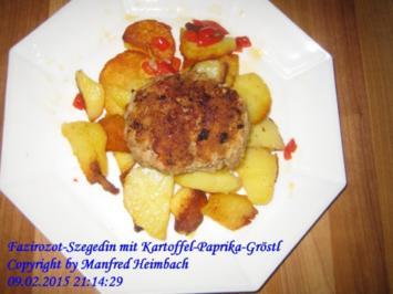 Fleisch – Fazirozot-Szegedin mit Kartoffel-Paprika-Gröstl - Rezept