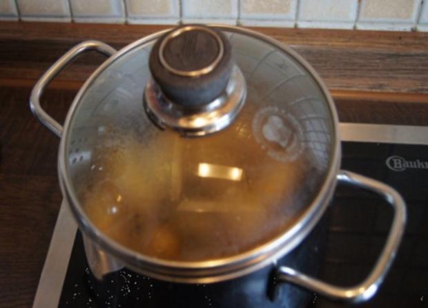 Sesamdrillinge mit Lachs, Senf-Honig-Sauce mit Dill und Kräutercreme - Rezept - Bild Nr. 6