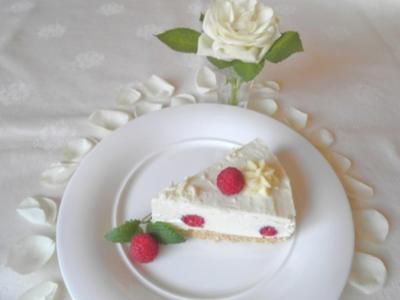 White Chocolat Cheesecake ... with Raspberries ... - Rezept