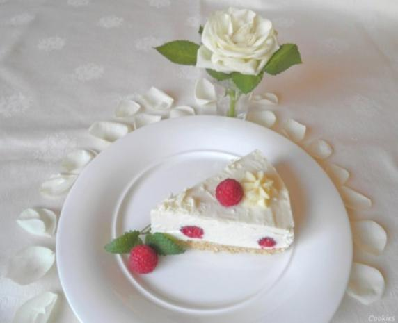 White Chocolat Cheesecake ... with Raspberries ... - Rezept