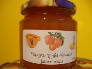 Papaya-Apfel-Ananas Konfitüre - Rezept