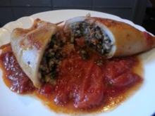 Geschmorte Tintenfischtuben mit Buchweizen-MangoldFüllung - Rezept