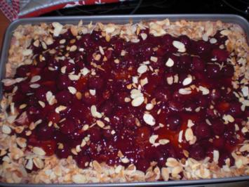 Kirsch-Schoko-Nuss-Blechkuchen - Rezept
