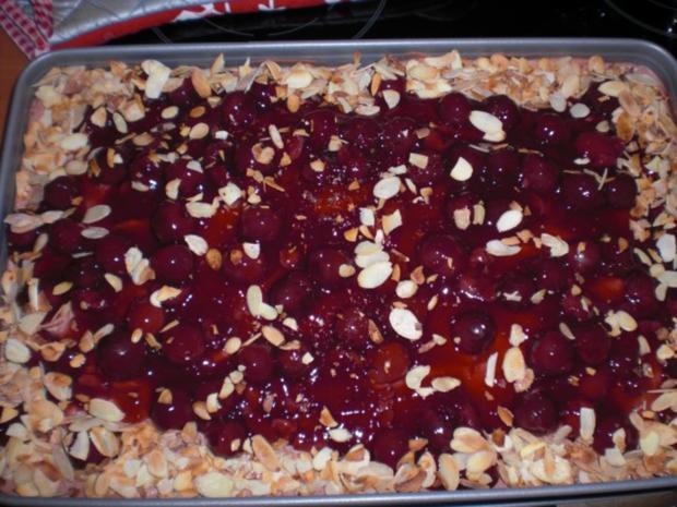 Rezept blechkuchen kirschen schoko