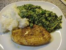 Putenschnitzel mit Spinat-Curry-Rahm - Rezept