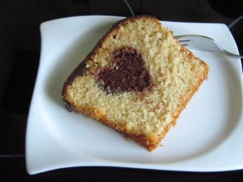 Rezept: Kastenkuchen mit Herz in der Mitte