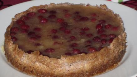 Apfel-Cranberry Kuchen ohne backen - Rezept