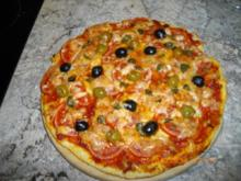 Tomaten-Mozzarella-Pizza - Rezept