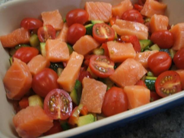 Auflauf: Lachs-Gemüse-Auflauf - Rezept - Bild Nr. 4