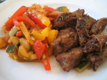 Geflügel: Entenbrust-Geschnetzeltes auf mediterranem Gemüse - Rezept
