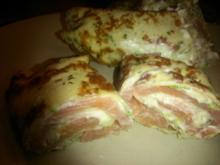 Omelette-Wraps mit Lachs - Rezept
