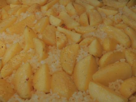 Milchreis mit Kartoffeln aus den Ofen - Rezept