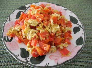 Paprika - Rührei - Rezept