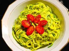 Zucchininudeln mit indonesischer Currysauce - Rezept