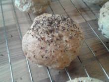 Dinkel-Weizen-Brötchen mit Vollkorn und Körnern - Rezept