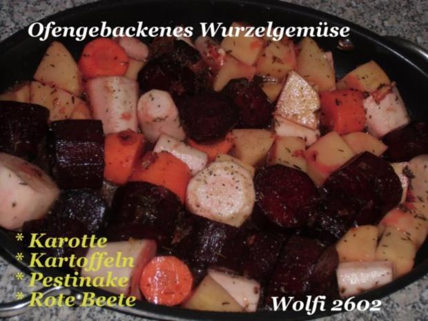 """Gemüse : Ofengebackenes Gemüse """"Pastinake, Karotte, Rote Beete, Kartoffel"""" Vegetarisch - Rezept - Bild Nr. 2"""