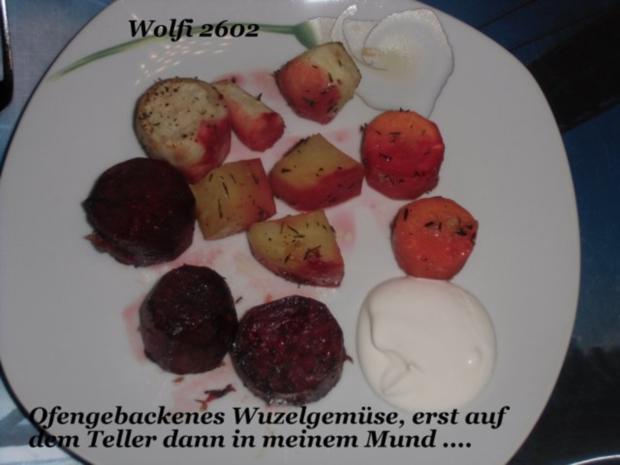 """Gemüse : Ofengebackenes Gemüse """"Pastinake, Karotte, Rote Beete, Kartoffel"""" Vegetarisch - Rezept - Bild Nr. 5"""