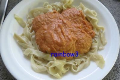 Kochen: Tagliatelle mit Gemüsesauce/-püree - Rezept