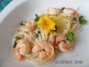 Spaghetti mit Zitronen-Scampi - Rezept