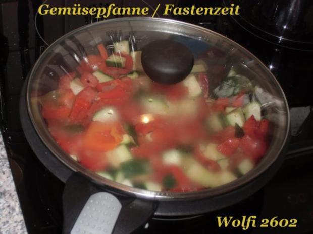 """Gemüse : Paprika, Fleischtomate, Zucchini, Gemüsezwiebel, Knoblauch """"geben sich die Ehre"""" - Rezept - Bild Nr. 2"""