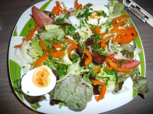 Abendessen : Gemischter Salat mit Lachs - Rezept - Bild Nr. 3
