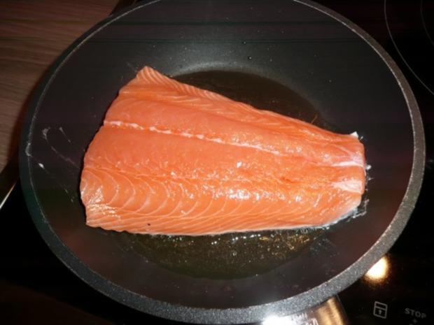 Abendessen : Gemischter Salat mit Lachs - Rezept - Bild Nr. 4