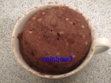 Backen: Nuss-Nougat - Tassenkuchen - Rezept