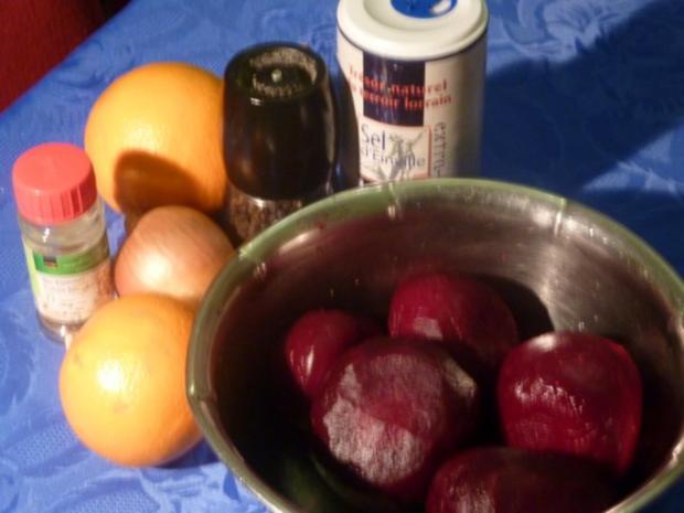 Rote Bete Salat mit Orangen - Rezept - Bild Nr. 2
