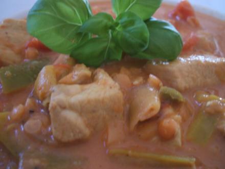 Suppen: Indische Linsensuppe - Rezept