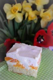 Blechkuchen: Zitronen-Götterspeise-Frischkäse-Mandarinen-Kuchen - Rezept