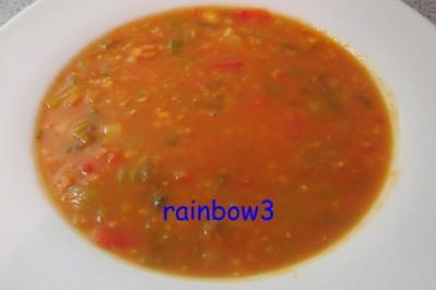 Kochen: Rote Linsen - Gemüse - Suppe - Rezept