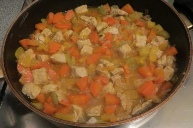 Kochen: Gemüse-Puten-Pfanne - Rezept - Bild Nr. 3