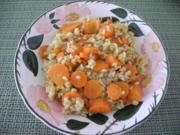 Karotten mit Knoblauch - Reis - Rezept