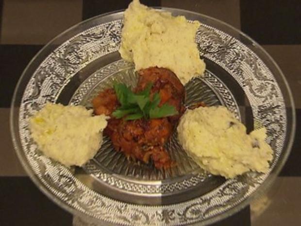 Ossobuco von der Rinderbeinscheibe, dazu getrüffeltes Kartoffelpüree - Rezept