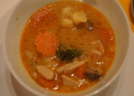 Curry-Suppe mit Hähnchenbrustfilet und Gemüse - Rezept