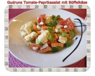 Salat: Tomate-Paprika-Salat - Rezept