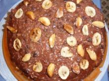 Bananen-Birnen-Schoko-Torte - Rezept