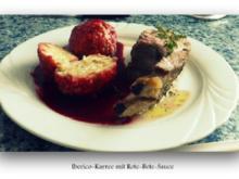 Schweinebraten vom Iberico-Karree mit Rote-Bete-Sauce - Rezept
