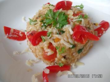 Paprika-Parmesan -Risotto - Rezept