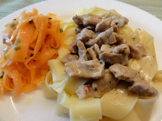 Fleisch:   SAHNEGESCHNETZELTES (vom Schwein) - Rezept - Bild Nr. 7