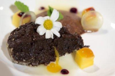 Schokoladenküchlein mit Mango und Schoko-Schaum (Josef Nentwig) - Rezept