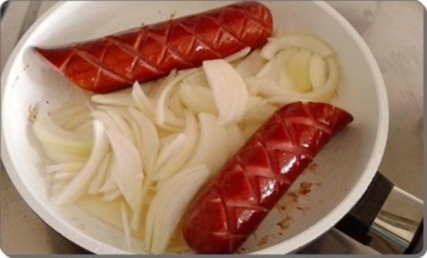 Curry Fleischwurst mit Salzkartoffeln und  Rotkohl - Rezept - Bild Nr. 10