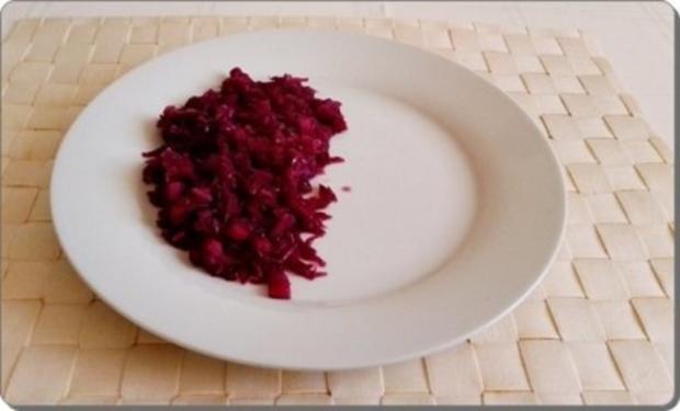 Curry Fleischwurst mit Salzkartoffeln und  Rotkohl - Rezept - Bild Nr. 15