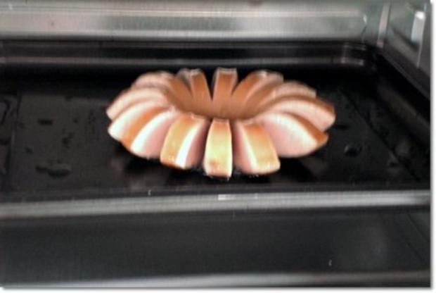 """""""Wurst-Blume""""  auf  Cheddar-Käse-Sandwich - Rezept - Bild Nr. 17"""
