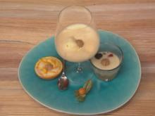 Zabaione an dreifacher Frucht - Rezept