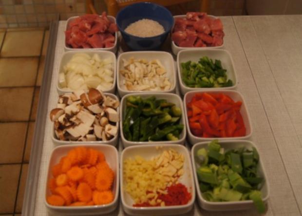 Schweinefilet mit Gemüse-Reis süß-sauer - Rezept - Bild Nr. 4