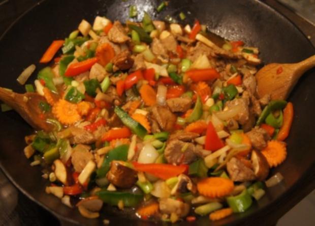 Schweinefilet mit Gemüse-Reis süß-sauer - Rezept - Bild Nr. 12