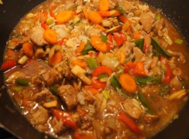 Schweinefilet mit Gemüse-Reis süß-sauer - Rezept - Bild Nr. 14