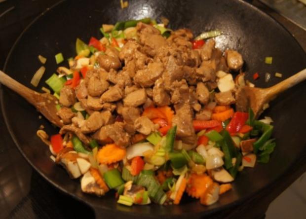 Schweinefilet mit Gemüse-Reis süß-sauer - Rezept - Bild Nr. 11