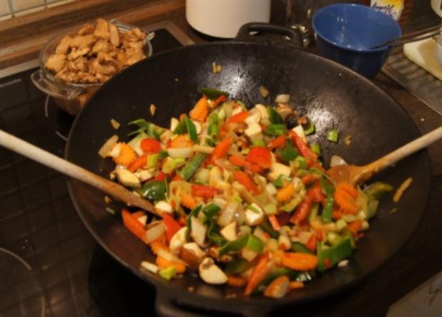 Schweinefilet mit Gemüse-Reis süß-sauer - Rezept - Bild Nr. 10